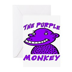 The Purple Monkey Greeting Cards (Pk of 10)