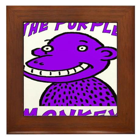 The Purple Monkey Framed Tile