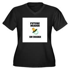 Future Beader on Board - Mate Women's Plus Size V-