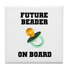 Future Beader on Board - Mate Tile Coaster