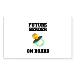 Future Beader on Board - Mate Rectangle Decal