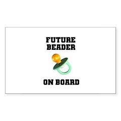Future Beader on Board - Mate Rectangle Sticker 1