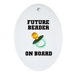 Future Beader on Board - Mate Oval Ornament
