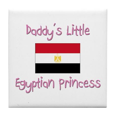 Daddy's little Egyptian Princess Tile Coaster