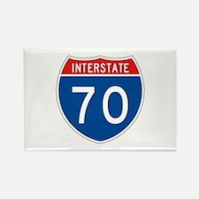 Interstate 70, USA Rectangle Magnet
