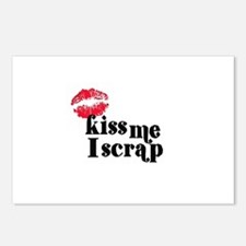 Kiss Me I Scrap - Scrapbookin Postcards (Package o