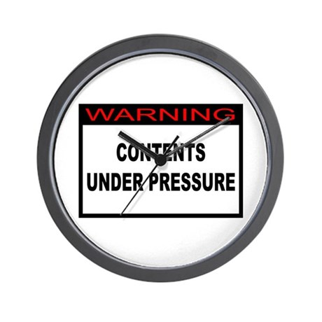 Contents Under Pressure Wall Clock