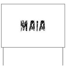 Maia Faded (Black) Yard Sign