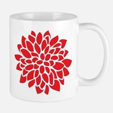 Bold Red Graphic Flower Modern Mugs