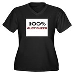 100 Percent Auctioneer Women's Plus Size V-Neck Da