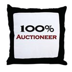 100 Percent Auctioneer Throw Pillow