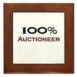 100 Percent Auctioneer Framed Tile