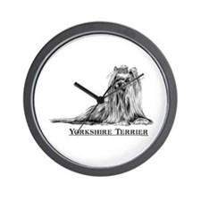 Yorkshire Terrier Dog Breed Wall Clock