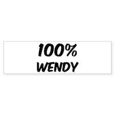 100 Percent Wendy Bumper Bumper Stickers