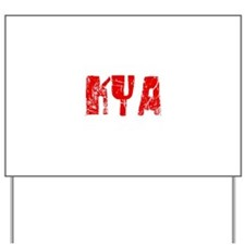 Kya Faded (Red) Yard Sign