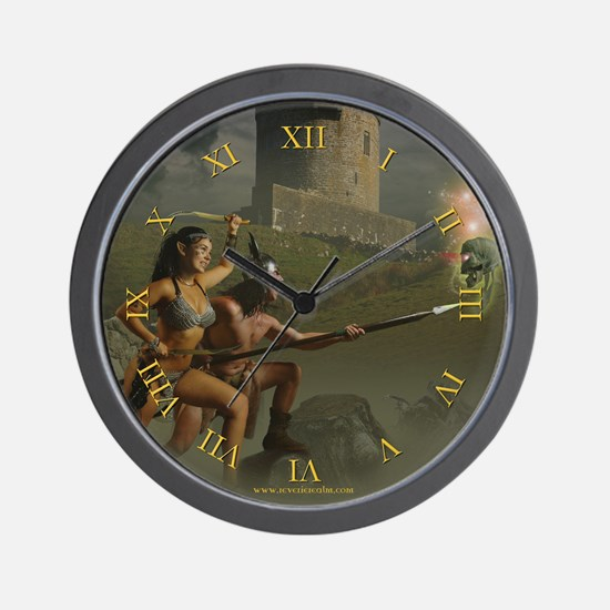 The Demilich in the Mist Wall Clock