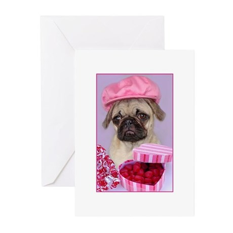 Pug Love Greeting Cards (Pk of 10)