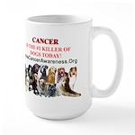 CanineCancerAwareness Large Mug