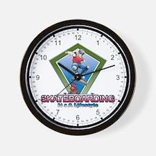 SkateBoarding Lifestyle Wall Clock