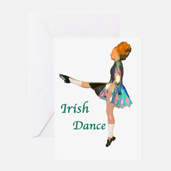 cafepress_dancer_green Greeting Cards