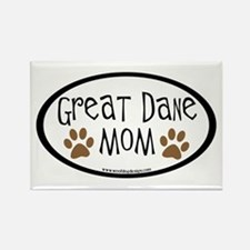 Great Dane Mom Oval Rectangle Magnet