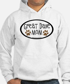 Great Dane Mom Oval Hoodie Sweatshirt