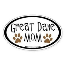 Great Dane Mom Oval Oval Decal