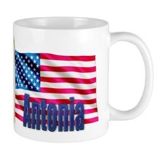 Antonia Personalized USA Flag Mug