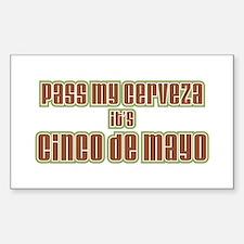 Cinco De Mayo Rectangle Decal