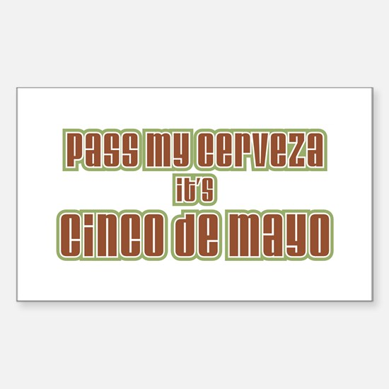 Cinco De Mayo Rectangle Decal