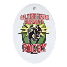 Rugby Survival Oval Ornament