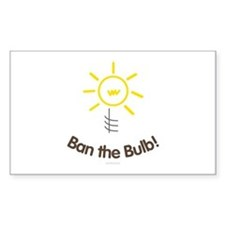 Ban the Bulb Rectangle Decal