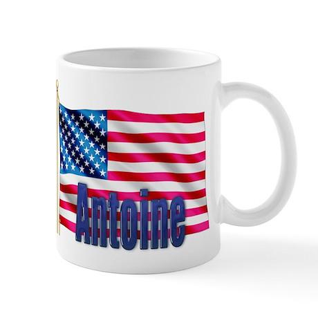 Antoine Personalized USA Flag Mug