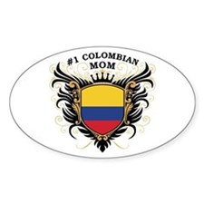 Number One Colombian Mom Oval Decal