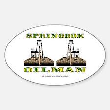 Springbok Oilman Oval Decal