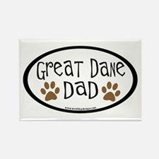 Great Dane Dad Rectangle Magnet
