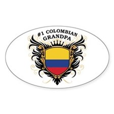 Number One Colombian Grandpa Oval Decal