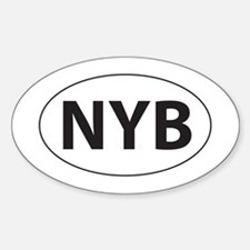 None of your business! (NYB) Oval Decal