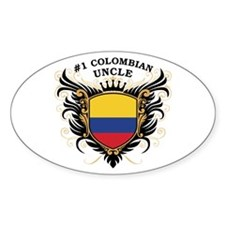 Number One Colombian Uncle Oval Decal