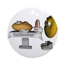 Smiley Reflexology Ornament (Round)