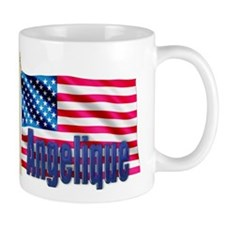 Angelique Personalized USA Flag Mug