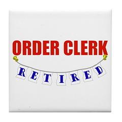 Retired Order Clerk Tile Coaster