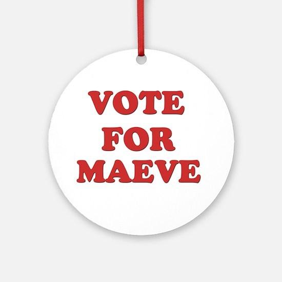 Vote for MAEVE Ornament (Round)