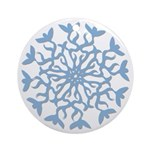 Flowerflake Ornament (Round)