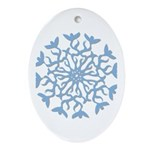 Flowerflake Oval Ornament