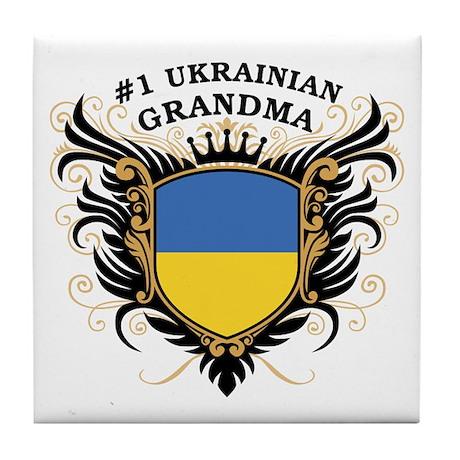Number One Ukrainian Grandma Tile Coaster