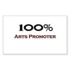 100 Percent Arts Promoter Rectangle Decal