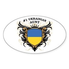 Number One Ukrainian Aunt Oval Decal