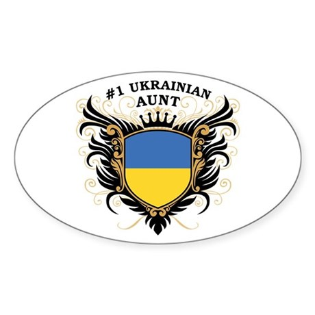 Number One Ukrainian Aunt Oval Sticker