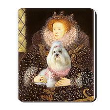 Queen Elizabeth & Havanese Mousepad